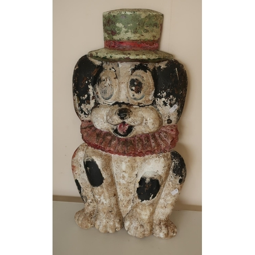 11 - 1960s fibre glass fairground ride frontage in the form of a dog...