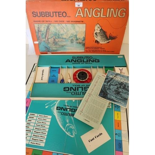 19 - 1970s Subbuteo Angling board game...
