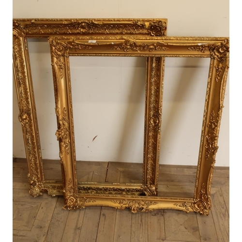 25 - Two large gilt picture frames (in need of restoration)...