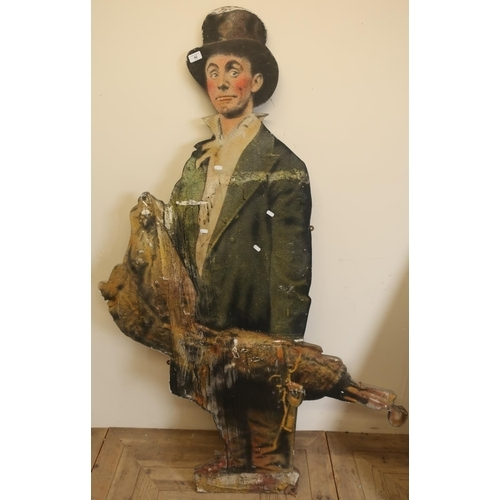 42 - Early-mid 20th C dummy board in the style of a chimney sweep (height 170cm)...
