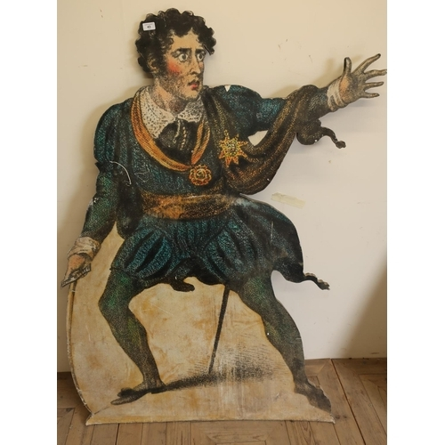 43 - Early-mid 20th C dummy board in the shape of a Shakespearian actor (height 158cm)...
