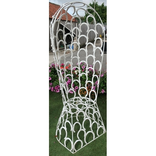16 - Craftsman made garden chair constructed of horseshoes...