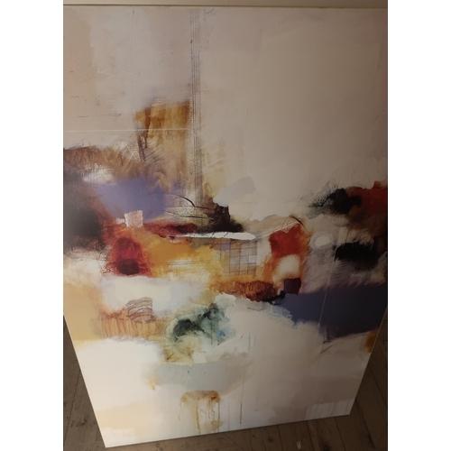60 - Large modern art print on board (82cm x 123cm)...