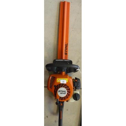 83 - Stihl HS45 petrol hedge trimmer...