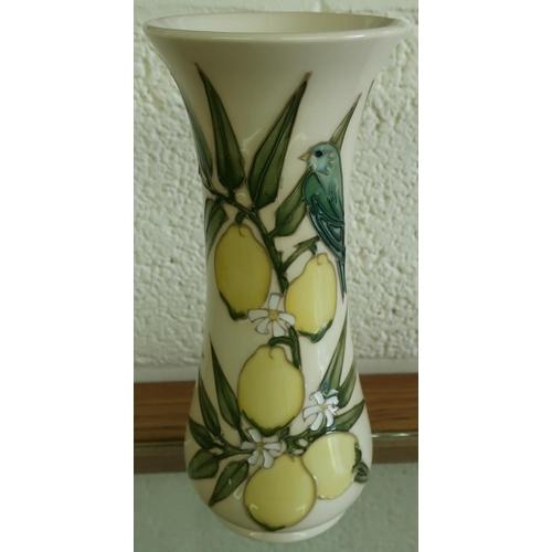 4 - Moorcroft Lemon Tree vase, the base with monogram initial (20.5cm high) (slight crazing to glaze)...