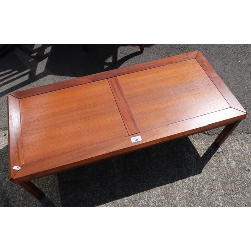 143 - Danish 1970's lowline coffee table stamped 'Made in Denmark'...