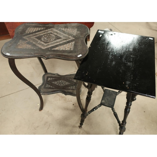 127 - Victorian and later ebonised occasional tables (2)...