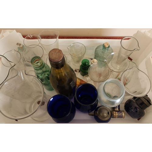 44 - Selection of 19th C and later glass measures, bottles etc of chemist and scientific interest...