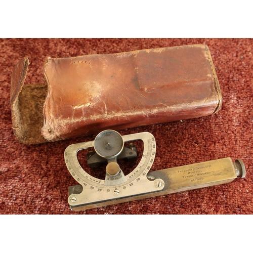 9 - Leather cased Clinometer by the Hughes Owen Co. Ltd, Montreal, Toronto WINNIREG No.7006...