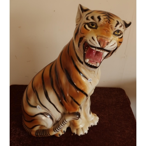 26 - Large ceramic figure of a tiger (approx 60cm high)...