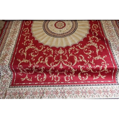 333 - Red ground Abusson Carpet (280cm x 200cm)...