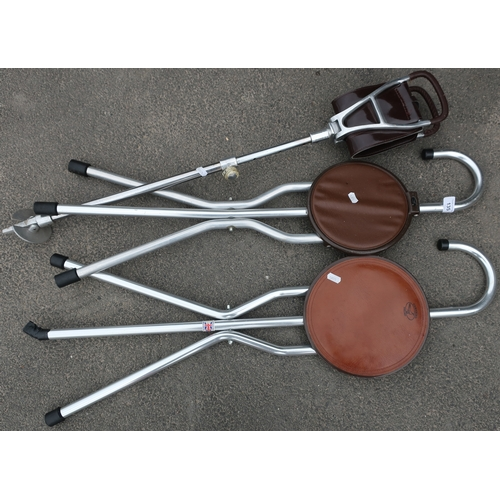 135 - Shooting stick and two other similar shooting sticks by Gamebird (3)...
