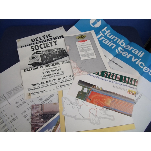 41 - Collection of various railway posters, paperwork and ephemera...