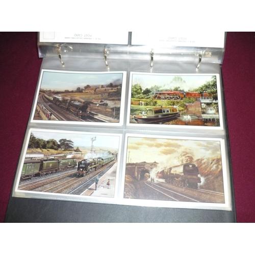 39 - Album of B.J. Freeman postcard railway related collectors cards...