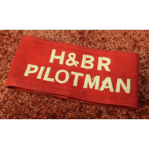 3 - Cloth armband for H & BR Pilotman with twin leather straps...