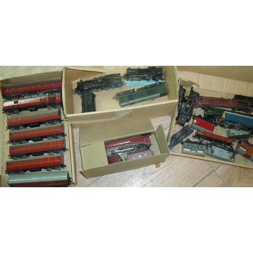 49 - Large selection of various OO gauge locomotives and rolling stock including the Duchess of Montrose ...