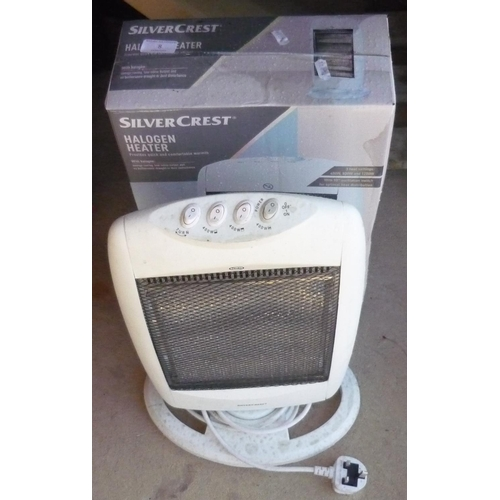 8 - Two Silver Crest halogen heaters (one boxed)...