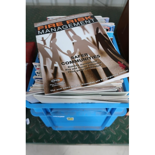 29 - Box containing a large quantity of fire fighting manuals and fire engineers journals/magazines...