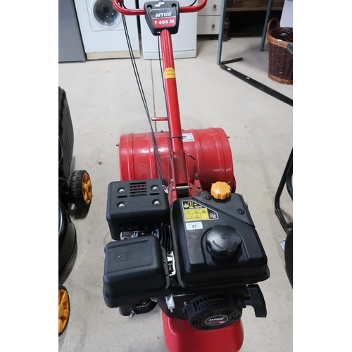 57 - MTD T405M petrol cultivator in excellent condition...
