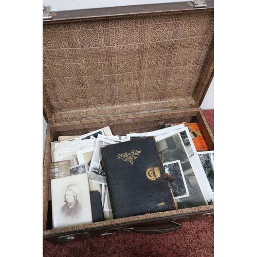 312 - Vintage suitcase containing a large and interesting collection of ephemera relating to Freddie Barth...