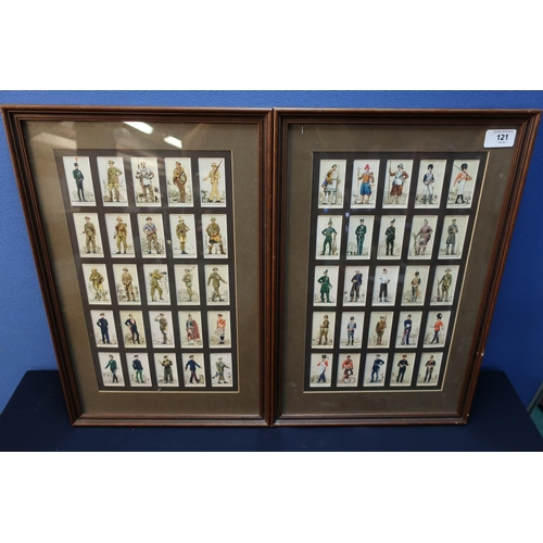 17 - Two framed Players Cigarettes, Volunteer Force and Regimental Cigarette Cards...