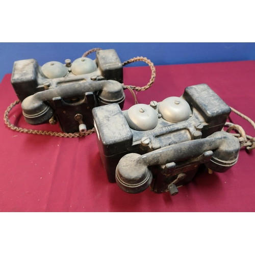 32 - Two field telephone sets MKII by TMC & PL (2)...