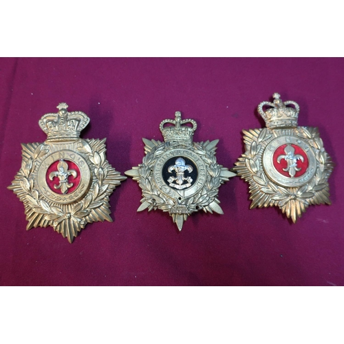 40 - Three Kings Regiment helmet plate badges...