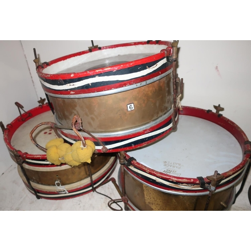 10 - BUF 'Parade Batter',  brass carcass stamped Olympic, snare drum (diameter 37cm), a Remo Weatherking ...