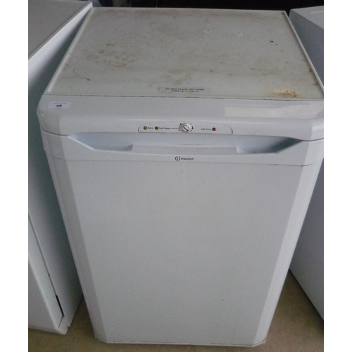 49 - Indesit upright freezer with four drawers...