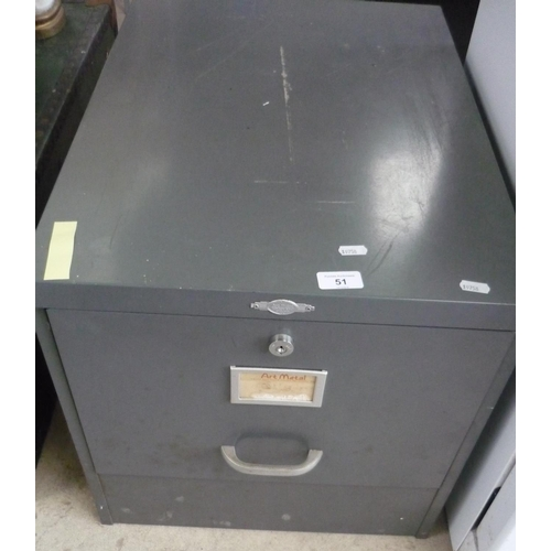 51 - Single drawer filing cabinet...