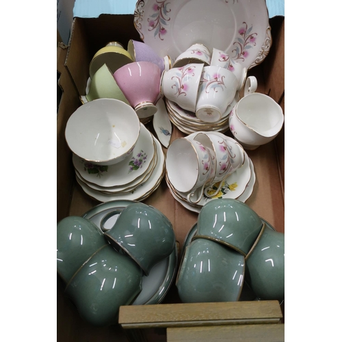 10 - Denby six piece mug, saucer & plate set, various other part tea services and two small limited editi...