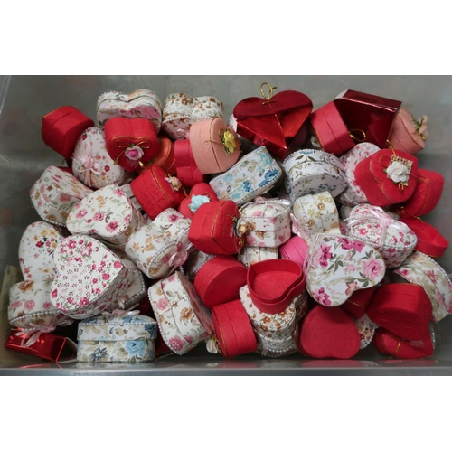 54 - Ex shop stock heart shaped trinket boxes...