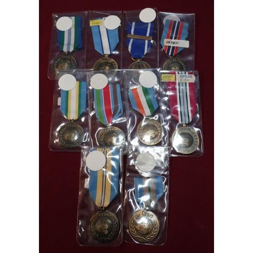 26 - Group of ten various UN Campaign medals including Cyprus, Former Yugoslavia etc...