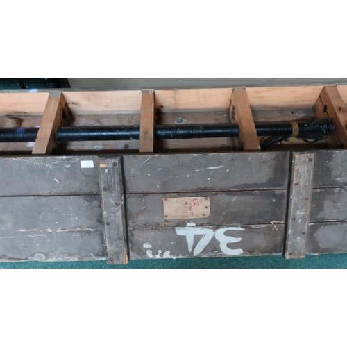 117 - British military wooden cased naval CR unit, the case stamped Admiralty Property CR Units Tamp 5355 ...