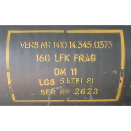 20 - Launch tube for Roland SAM VERS NR.1410.14.345.0373 160LFK FRAG DM11 LOS 5ETBI 81 serial no. 2623 (o...