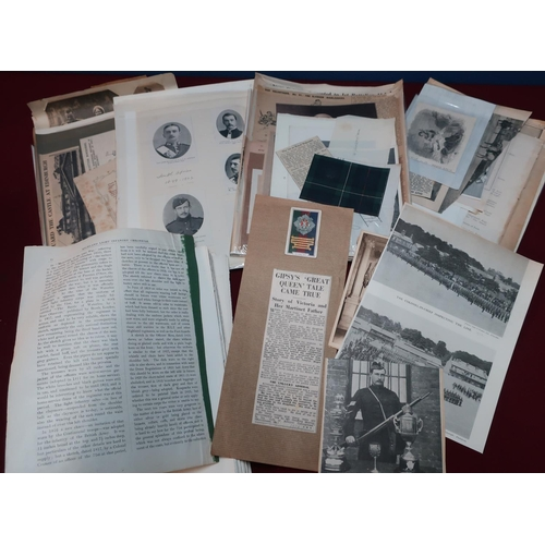 57 - Box containing a quantity of Victorian and later military  ephemera, research materials, prints, new...