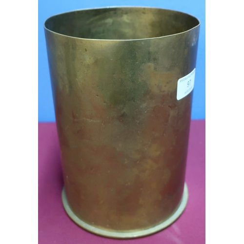 97 - Berndorf 1917 431 15cm M14 brass shell casing (height 22cm)...