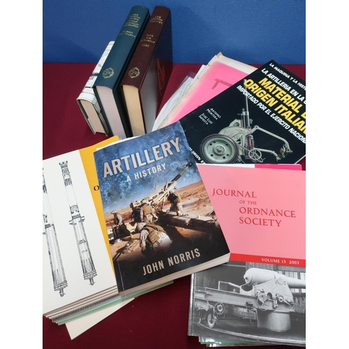 98 - Selection of artillery related reference and research books, including The History Of The Indian Mou...