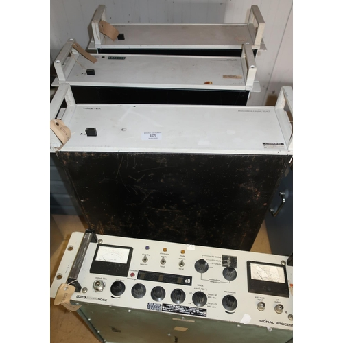 105 - Racall Instrument 9062 Signal Processor and three Wavetek Model 172B Programmable Signal Source Unit...