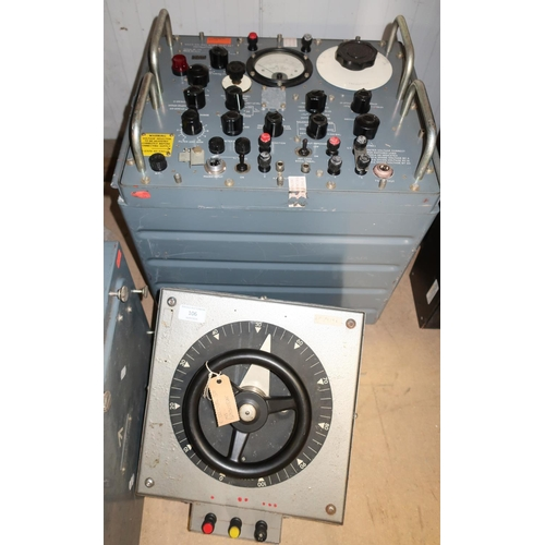 106 - Mid - late 20th C military electronics including a Bercostat, a test set 6625-99-943-8385, and a mil...