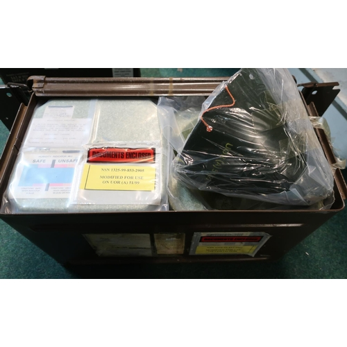 126 - Two military issue cased Proximity Sensors Operational in sealed packets and metal outer carry case...