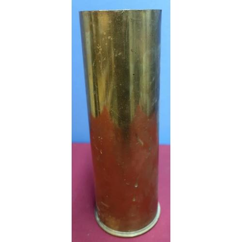 129 - 1954 25pr shell casing (height 29cm)...