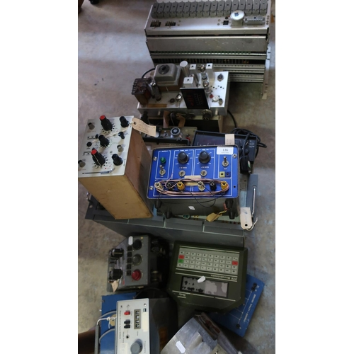 136 - Large selection of mid - late 20th C military electronics, including various control units, signal s...