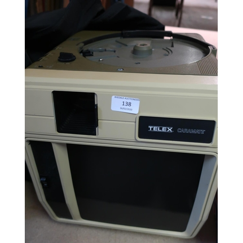 138 - Telex Caramate Monitor with outer cover...