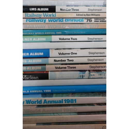 22 - Box containing a quantity of various hardback Ian Allan railway related books...