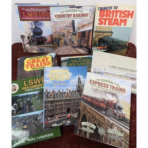 24 - Quantity of hardback railway related books including The Southern, Then And Now, The Trains We Love,...