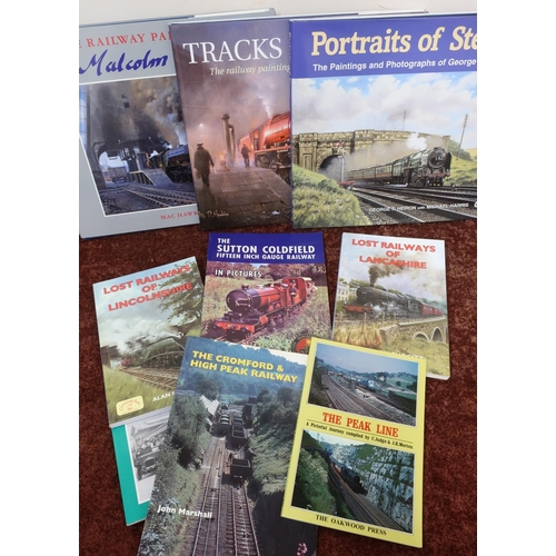 25 - Selection of various railway related books and pamphlets, including North Yorkshire Railway Stations...