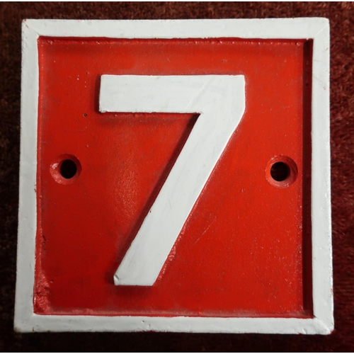 17 - Cast alloy No.7 sign (15cm x 15cm)...