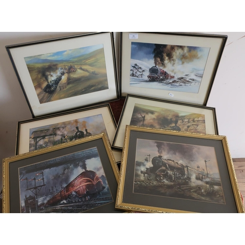 26 - Selection of various railway related framed and mounted pictures and prints (8)...