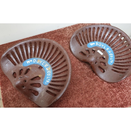 48 - Pair of quality reproduction cast metal tractor seats...